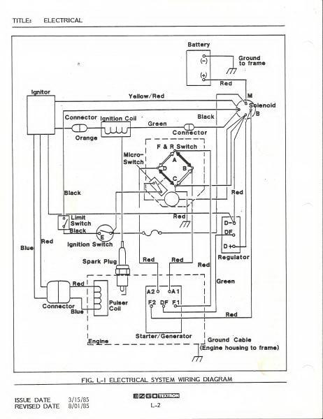 Ezgo 1984 Wiring Diagram, Ez Go Wiring Schematic
